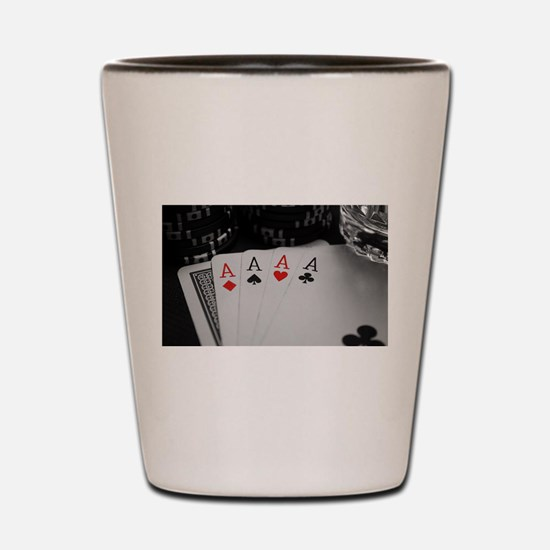 4 Aces Shot Glass