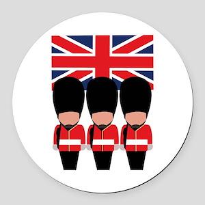 Royal Guard Round Car Magnet