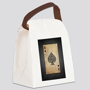 Ace Of Spades Canvas Lunch Bag