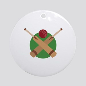 Cricket Bat Ornament (Round)