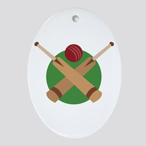 Cricket Bat Ornament (Oval)
