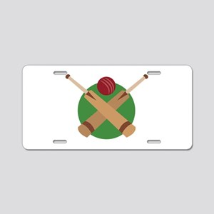 Cricket Bat Aluminum License Plate