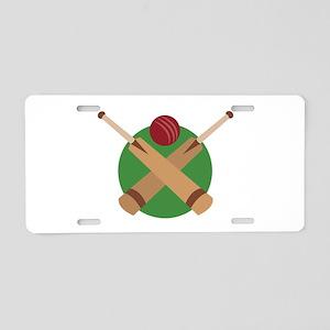 Cricket Bat Aluminum License Plate