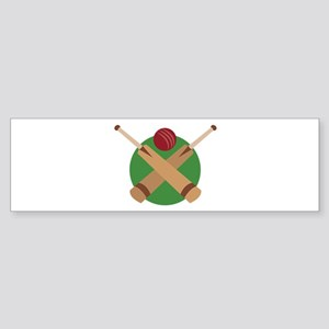 Cricket Bat Bumper Sticker