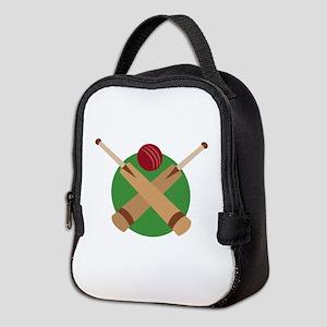 Cricket Bat Neoprene Lunch Bag