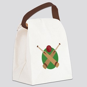Cricket Bat Canvas Lunch Bag