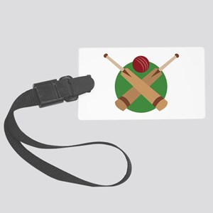 Cricket Bat Luggage Tag