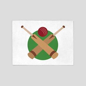 Cricket Bat 5'x7'Area Rug