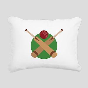 Cricket Bat Rectangular Canvas Pillow