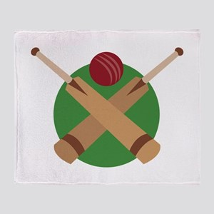 Cricket Bat Throw Blanket