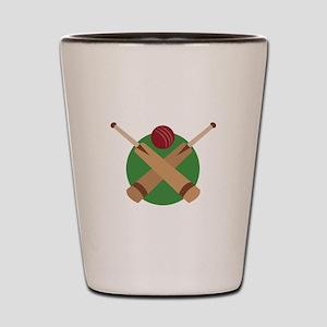 Cricket Bat Shot Glass