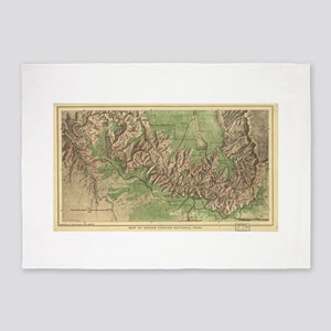 Vintage Map of The Grand Canyon (19 5'x7'Area Rug