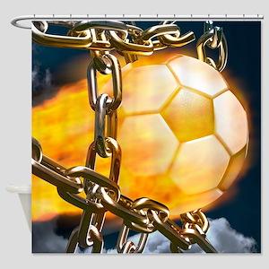 Ball Breaking Chain Net Shower Curtain