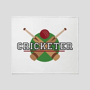 Cricketer Throw Blanket