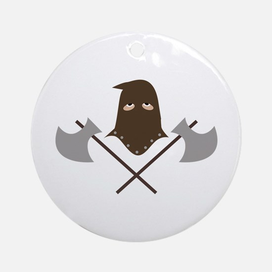 Executioner & Axes Ornament (Round)