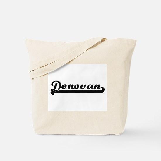 Donovan Classic Retro Name Design Tote Bag
