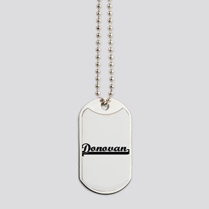 Donovan Classic Retro Name Design Dog Tags