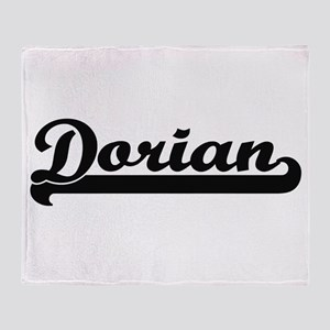 Dorian Classic Retro Name Design Throw Blanket