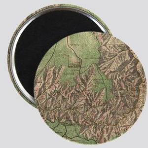 Vintage Map of The Grand Canyon ( Magnets