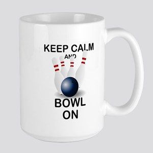 BOWLING - KEEP CALM AND BOWL ON Mugs
