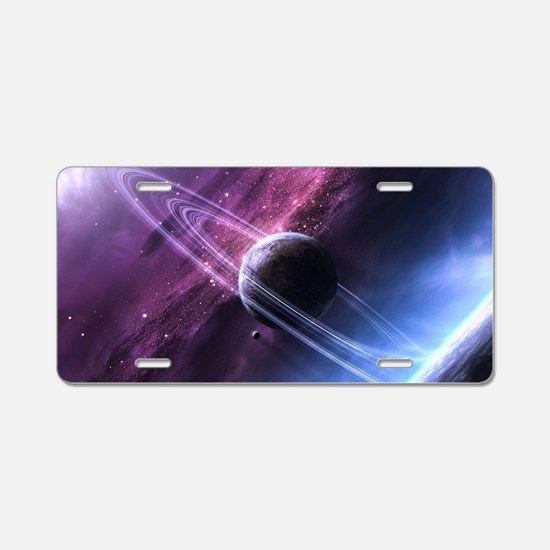 Planet Ring System Aluminum License Plate