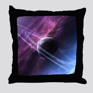 Planet Ring System Throw Pillow