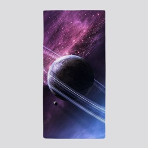Planet Ring System Beach Towel