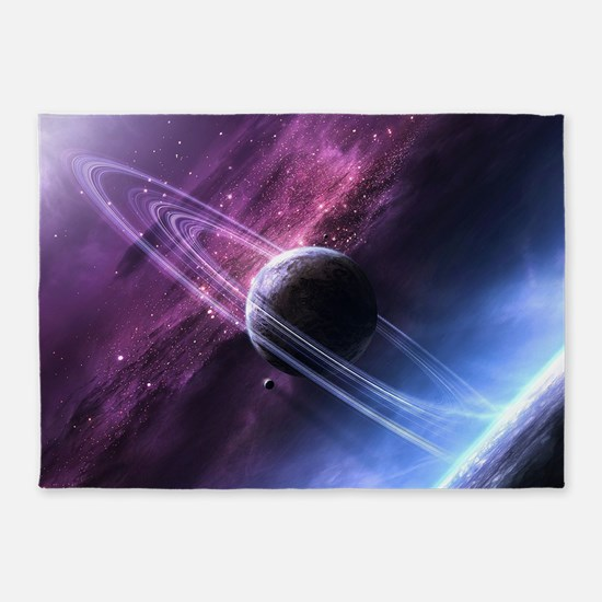 Planet Ring System 5'x7'Area Rug