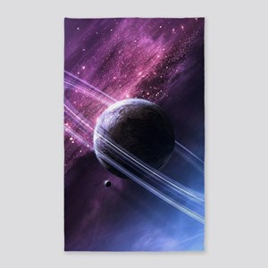 Planet Ring System Area Rug