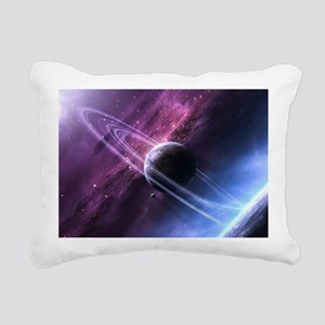 Planet Ring System Rectangular Canvas Pillow
