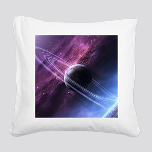 Planet Ring System Square Canvas Pillow