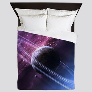 Planet Ring System Queen Duvet