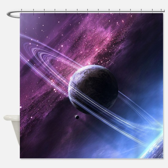 Planet Ring System Shower Curtain
