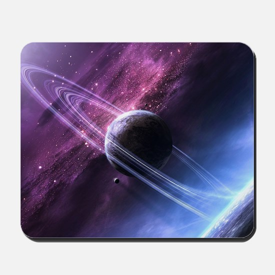 Planet Ring System Mousepad