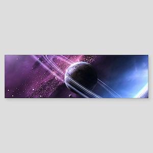 Planet Ring System Bumper Sticker