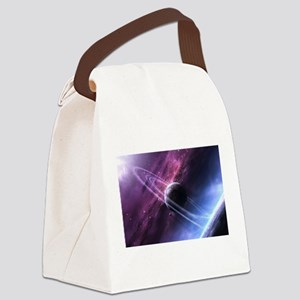Planet Ring System Canvas Lunch Bag