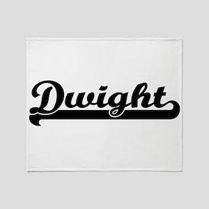 Dwight Classic Retro Name Design Throw Blanket