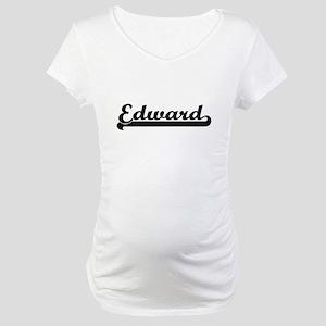 Edward Classic Retro Name Design Maternity T-Shirt