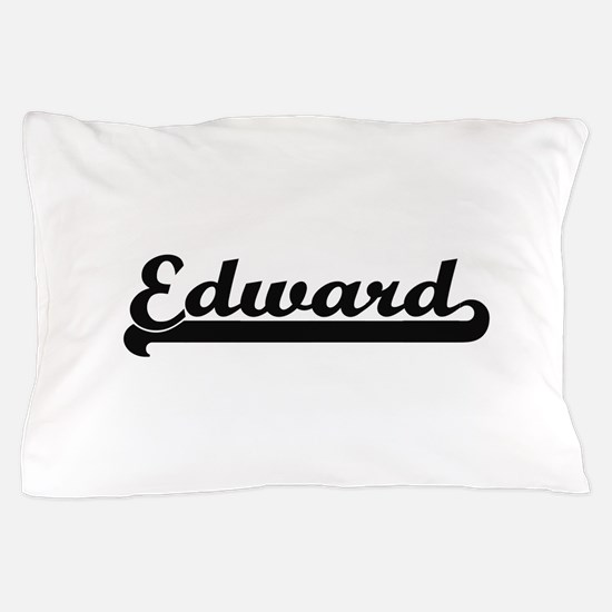 Edward Classic Retro Name Design Pillow Case