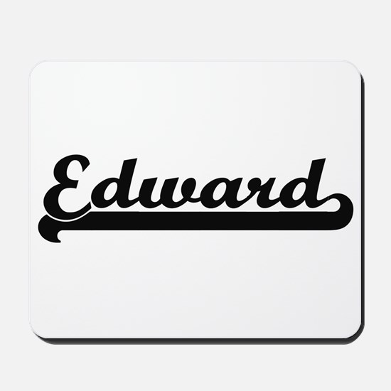 Edward Classic Retro Name Design Mousepad