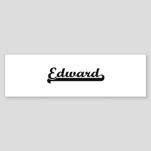 Edward Classic Retro Name Design Bumper Sticker