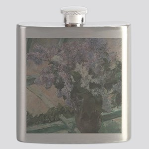 Lilacs by Mary Cassatt Flask