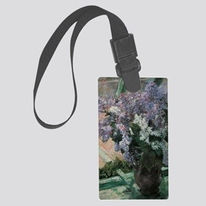 Lilacs by Mary Cassatt Large Luggage Tag