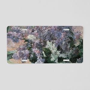 Lilacs by Mary Cassatt Aluminum License Plate