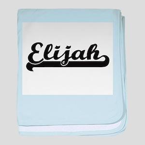 Elijah Classic Retro Name Design baby blanket