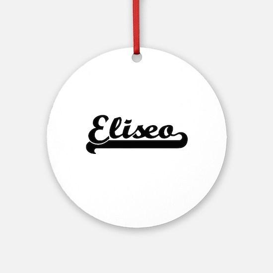 Eliseo Classic Retro Name Design Ornament (Round)