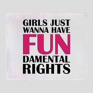Girls Just Wanna Have Fun Stadium Blanket