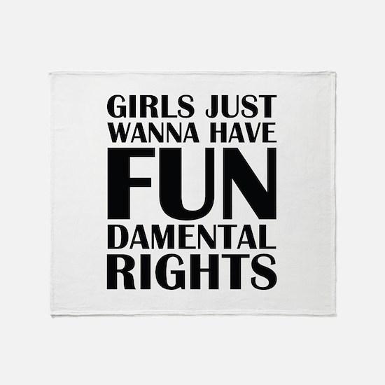 Girls Just Wanna Have Fun Stadium Blanket