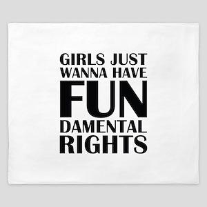 Girls Just Wanna Have Fun King Duvet