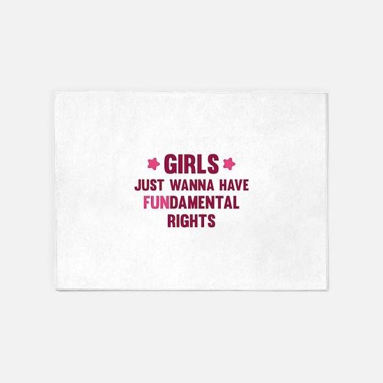 Girls Just Wanna Have Fun 5'x7'Area Rug